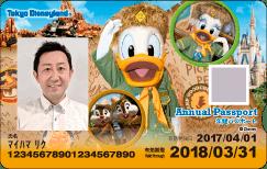 Tokyo Disneyland 1-Park Annual Passport Design 2017