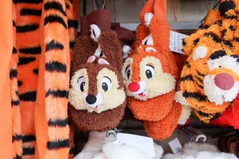 Chip n Dale Fleece Mittens Gloves Tokyo Disneyland DisneySea