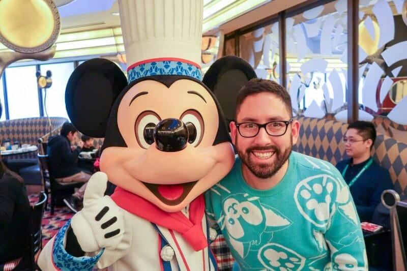 Chris & Mickey Mouse Chef Mickey Disney Ambassador Hotel Tokyo Disneyland