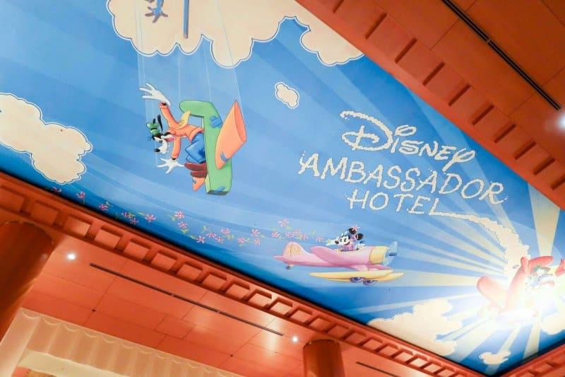 Lobby Ceiling Disney Ambassador Hotel Review Tokyo Disney Resort