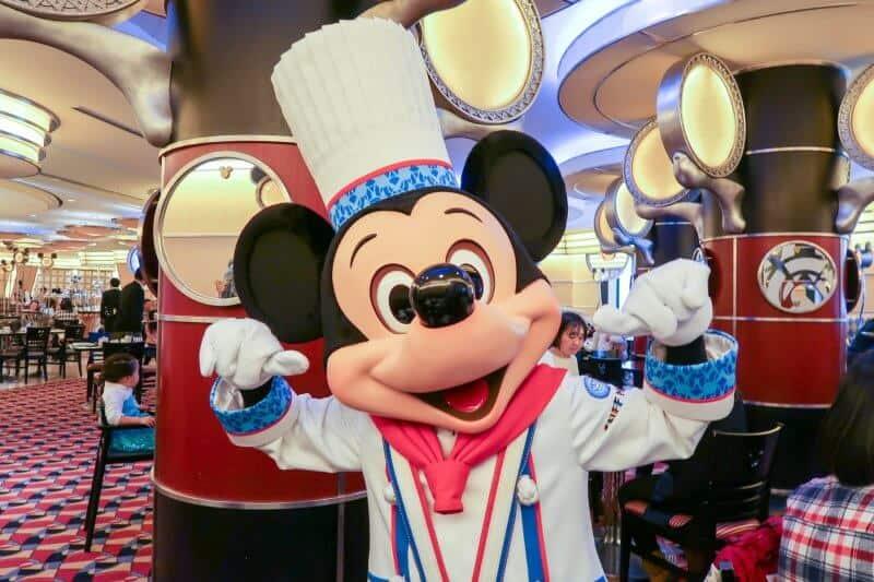 Mickey Pose Chef Mickey Disney Ambassador Hotel Tokyo Disneyland