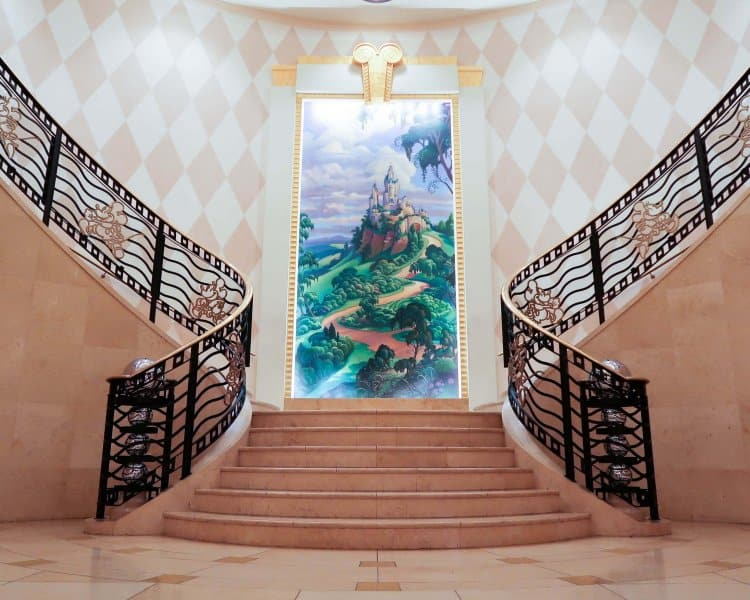 Staircase Disney Ambassador Hotel Review Tokyo Disney Resort