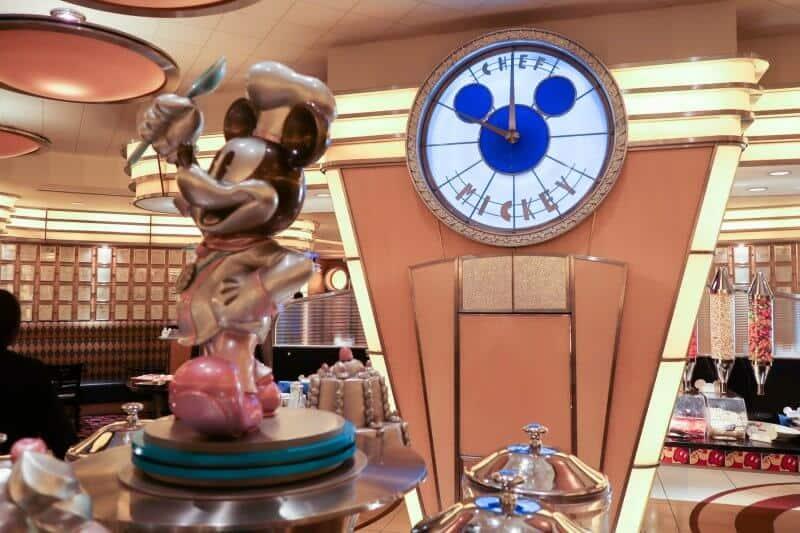 Statue and Juice Bar Chef Mickey Disney Ambassador Hotel Tokyo Disneyland
