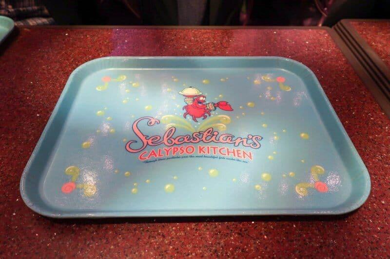 Tray Sebastian's Calypso Kitchen Tokyo DisneySea