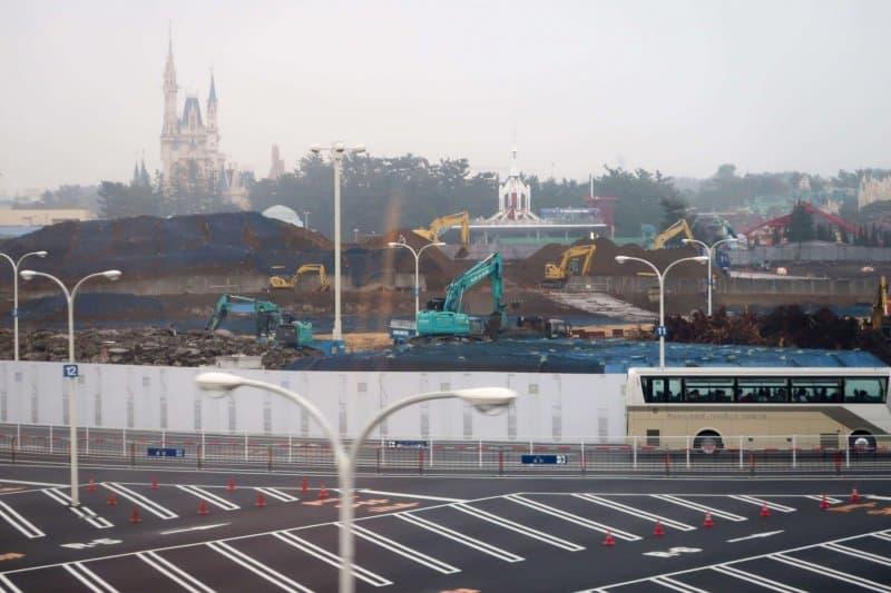 Fantasyland Construction Tokyo Disneyland Landscape Again