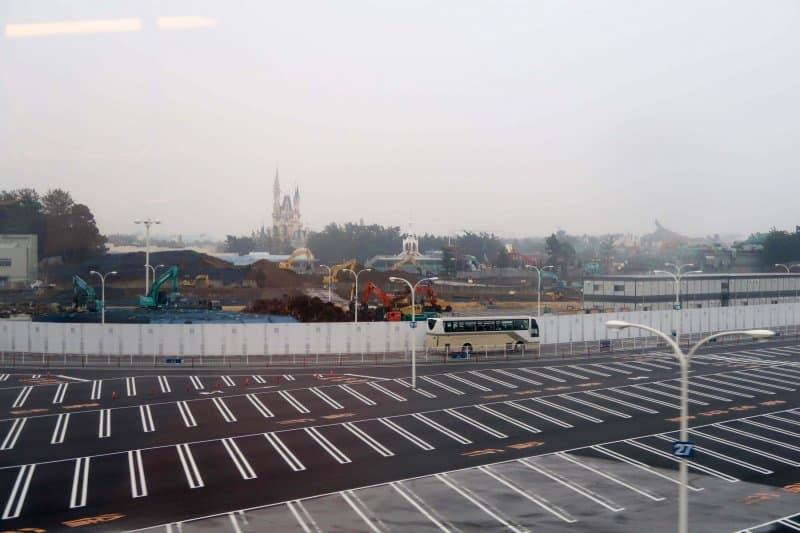 Fantasyland Construction Tokyo Disneyland Landscape Zoomed