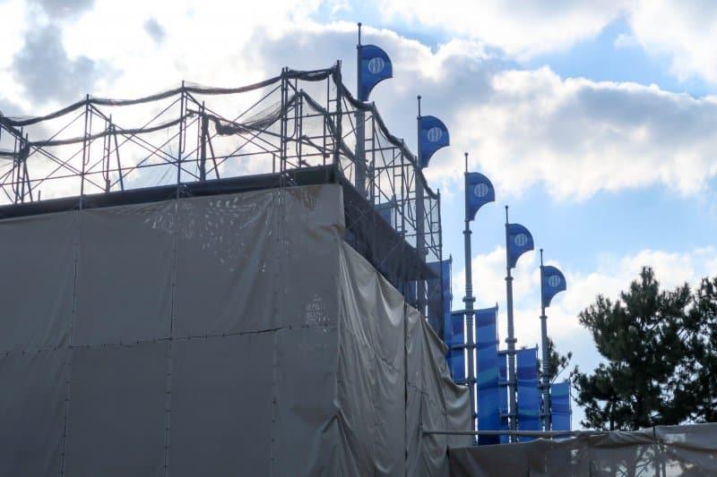 Finding Nemo SeaRider Construction Tokyo DisneySea Blue Flags