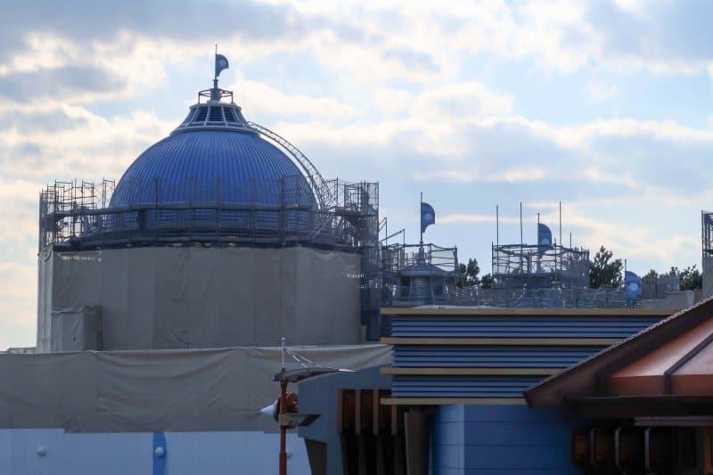 Finding Nemo SeaRider Construction Tokyo DisneySea Blue Roof