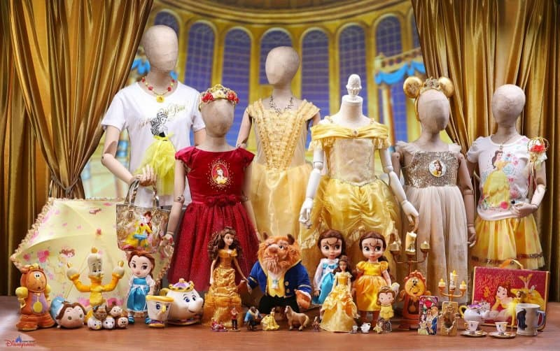 Hong Kong Disneyland Disney Friends Springtime Carnival Beauty and the Beast Merchandise