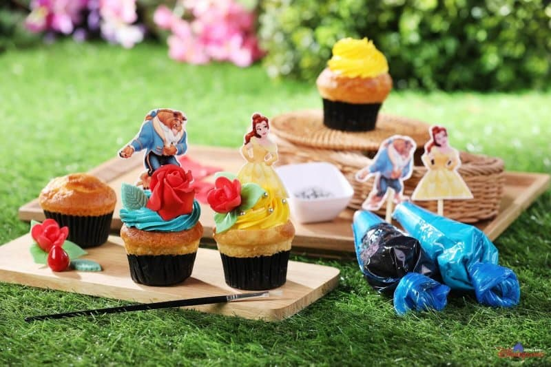 Hong Kong Disneyland Disney Friends Springtime Carnival Cupcakes Beauty and the Beast