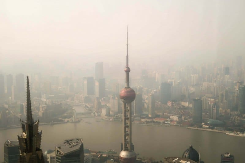 View of Oriental Pearl Tower from Shanghai World Financial Center