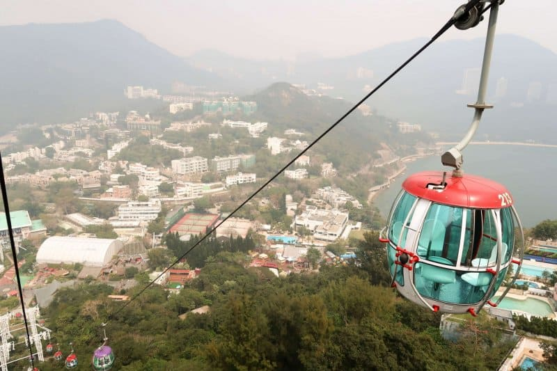 Ocean Park Hong Kong Cable Car View