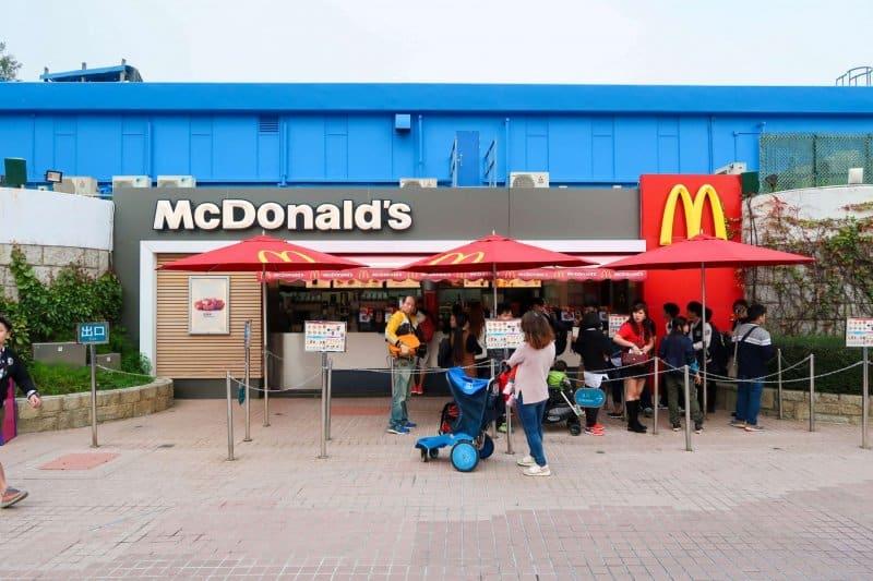 Ocean Park Hong Kong McDonalds