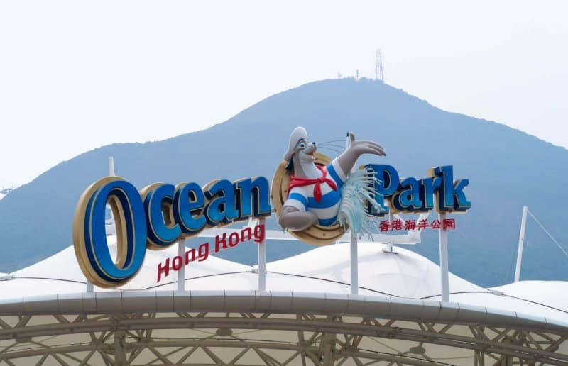Ocean Park Hong Kong Sign