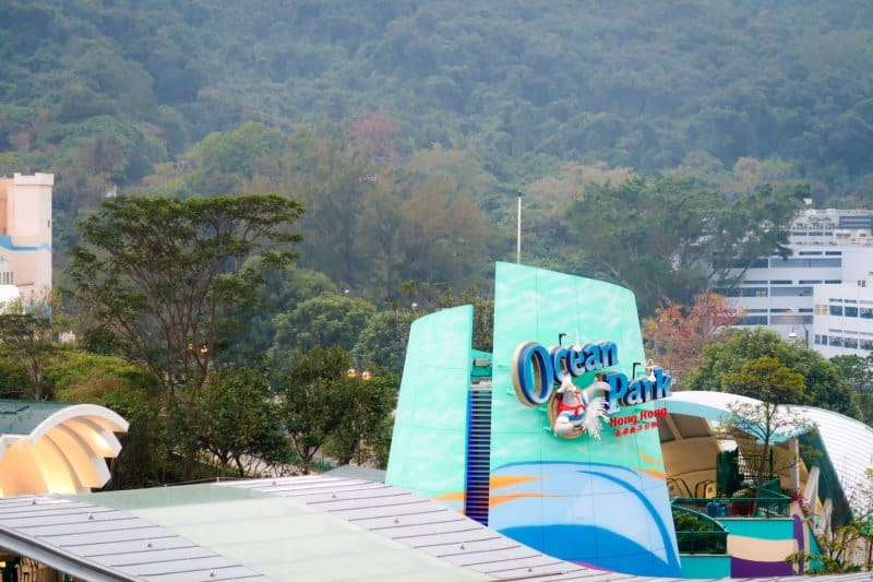 Ocean Park Hong Kong Signage Outside