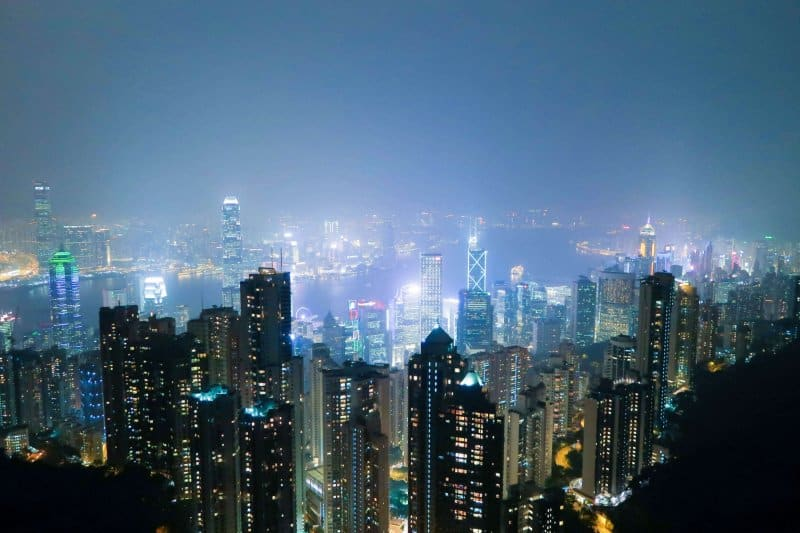 Victoria Peak Hong Kong Skyline Evening