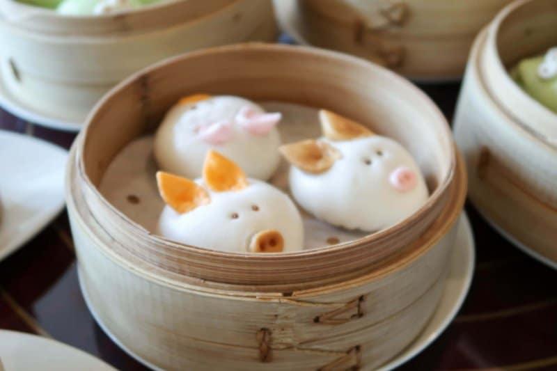Hong Kong Disneyland Dim Sum Crystal Lotus Pigs
