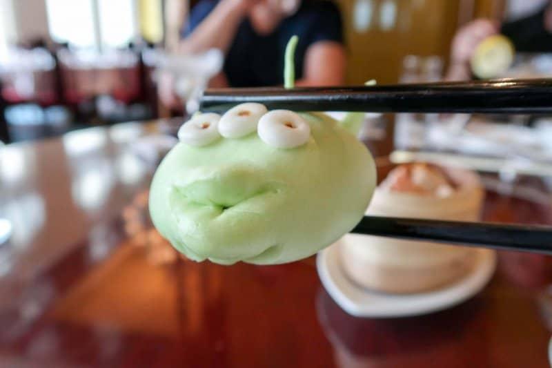 Hong Kong Kong Disneyland Dim Sum Green Alien