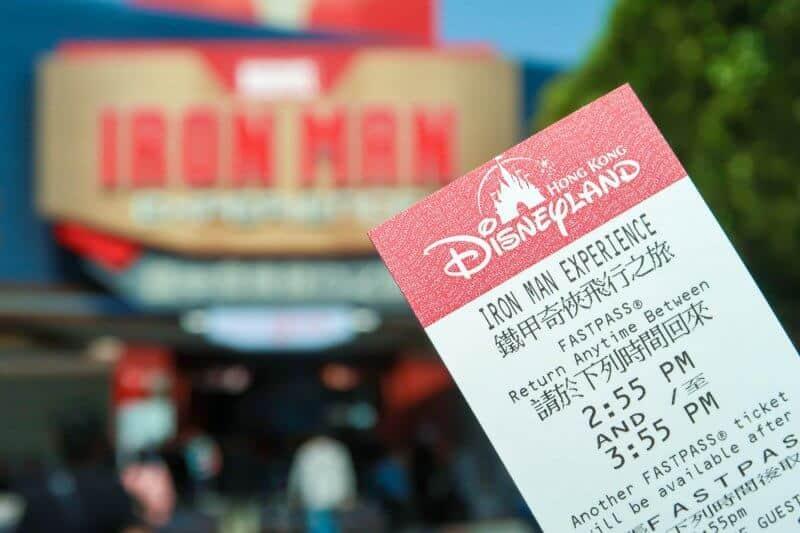 Iron Man Experience FastPass Hong Kong Disneyland