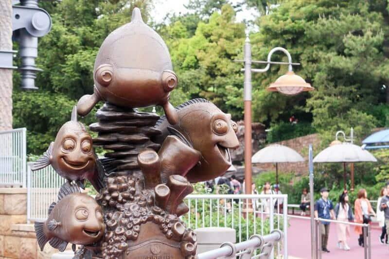 Nemo & Friends SeaRider Statue Tokyo DisneySea