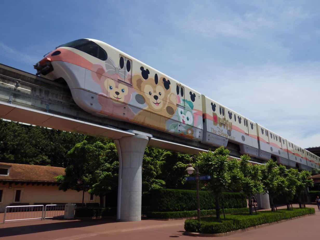 Duffy monorail on the Tokyo Disney Resort Line.
