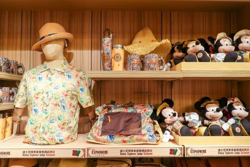 Exclusive Merchandise Disney Explorers Lodge Hong Kong Disneyland