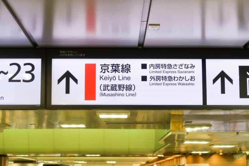 Tokyo Station to Keiyo or Musashino Line for Tokyo Disneyland