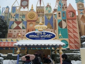 Its a Small World Covered in Snow Entrance