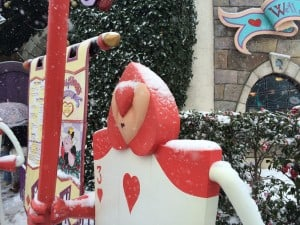 Alice in Wonderland Queen of Hearts Guards Covered in Snow