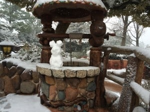 Snow Mickey in Critter Country