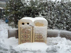 Frozen Trashcans