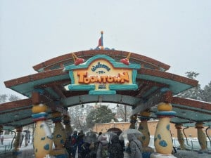 Toontown Covered in Snow