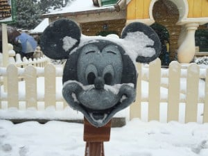 Mickey's Mailbox Covered in Snow
