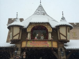 Pinocchio's Daring Journey Covered in Snow