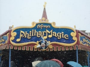 Mickey's Philhar Magic Covered in Snow