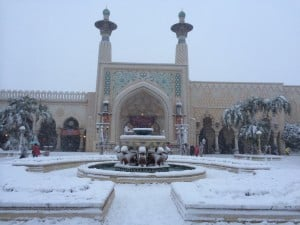 Magic Lamp Theatre in the Arabian Coast Covered in Snow