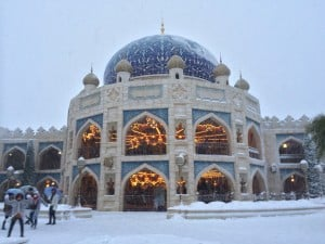 Caravan Carousel in the Arabian Coast Covered in Snow