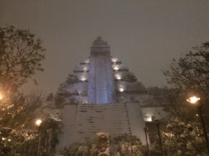 Indiana Jones Temple Covered in Snow