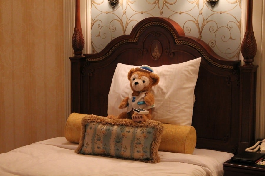 Duffy kicks back in bed and watches some TV before heading off in to the parks.