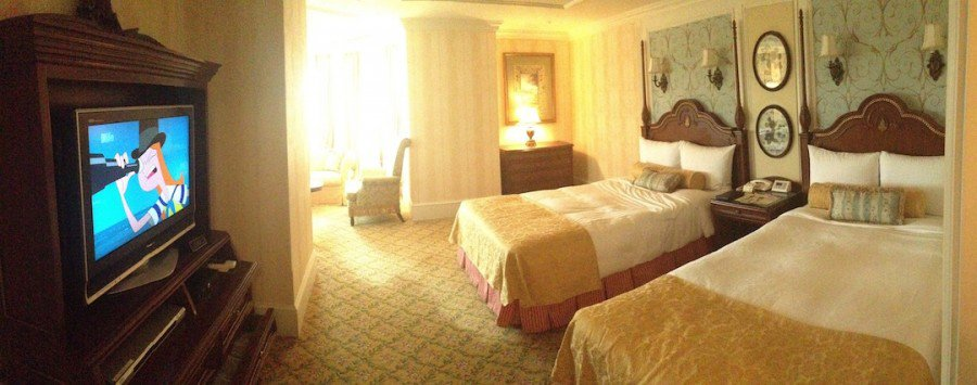 The Very First View Inside Our Room At Tokyo Disneyland Hotel