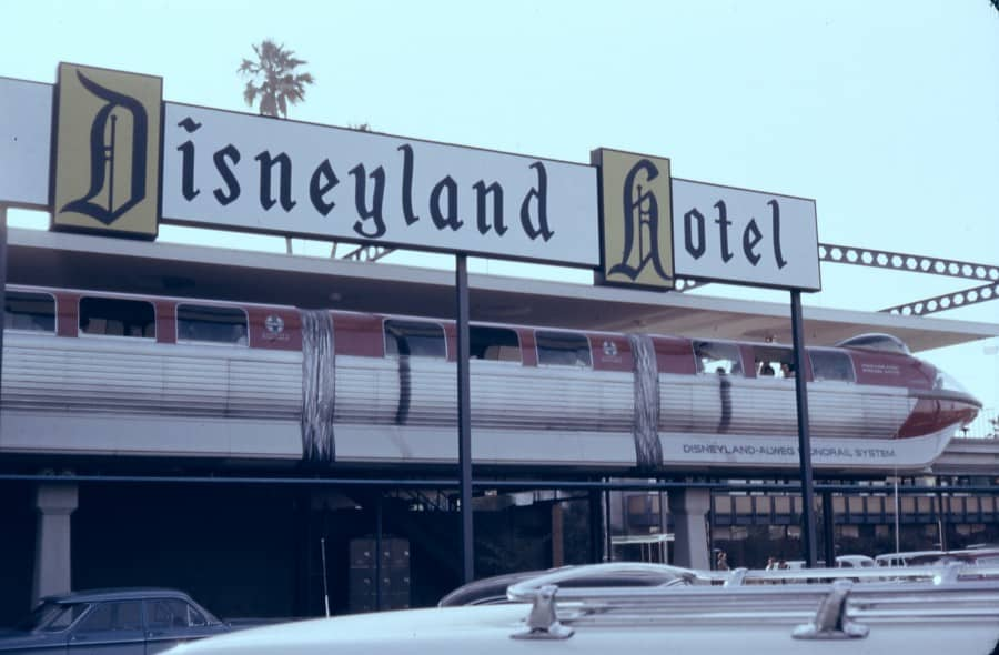 Disneyland Hotel circa 1963. Photo Credit : Robert J. Boser / Public Domain