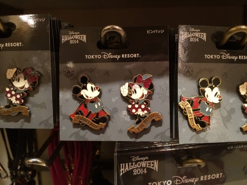 Vampire Mickey and Witch Minnie Pins