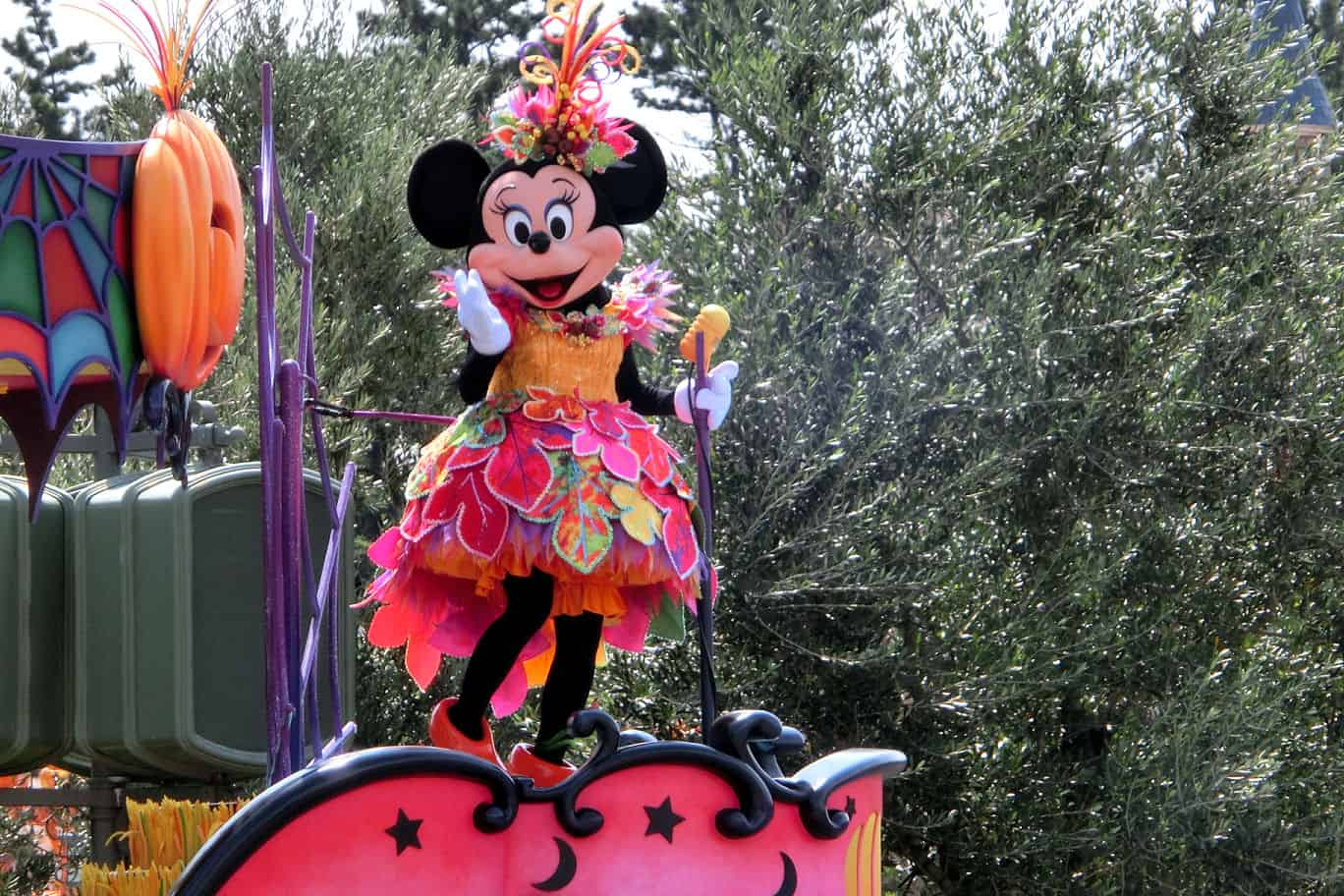 Minnie Mouse at Tokyo Disneyland during Halloween