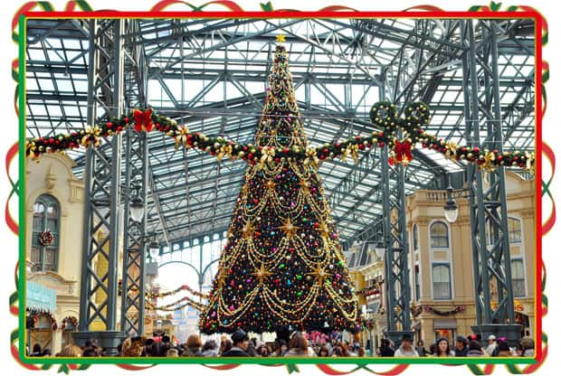Tokyo Disneyland Christmas Fantasy 2014 Decorations Christmas Tree in the World Bazaar