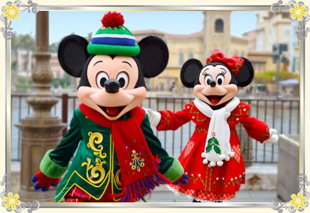 Mickey and Minnie in Holiday Greeting from Seven Ports!