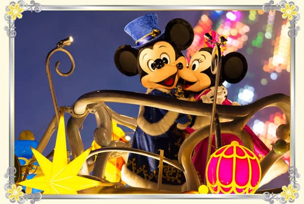 Mickey and Minnie in Color of Christmas