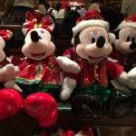 Mickey and Minnie Large Plush Christmas Fantasy 2014
