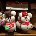 Mickey and Minnie Snowmen Plush Straps Christmas Fantasy 2014