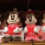 Mickey and Minnie Plush Pillows Christmas Fantasy 2014