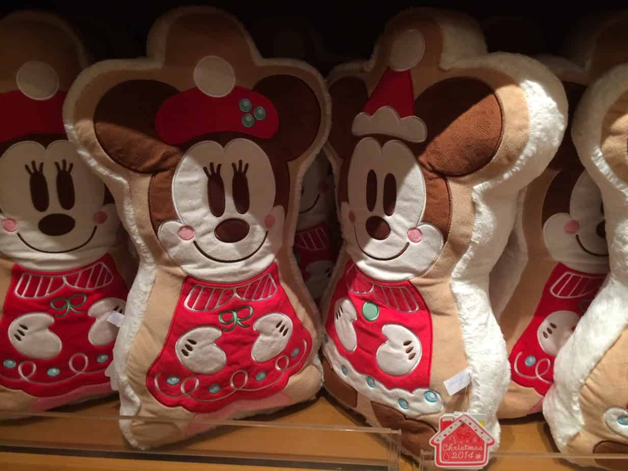 Mickey And Minnie Gingerbread Plush Pillows Christmas
